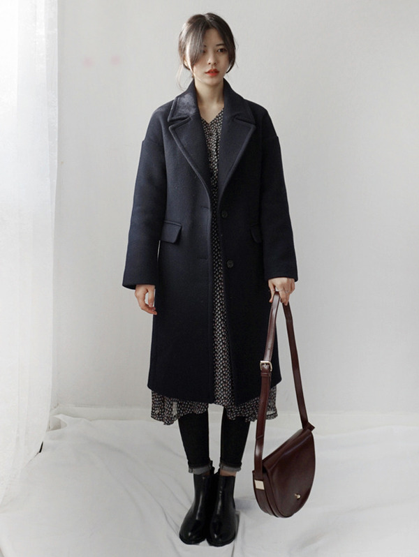 [누빔추가♡] Single WOOL coat - wool 80%