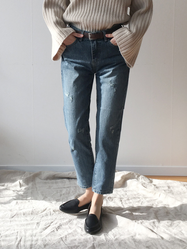 (당일발송) Ice denim boyfit jean