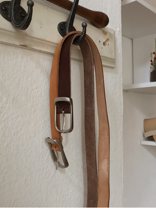 caramel buckle belt - 3 color (소가죽)
