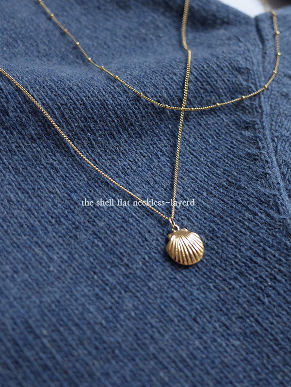 Clam pendant necklace (2pc)