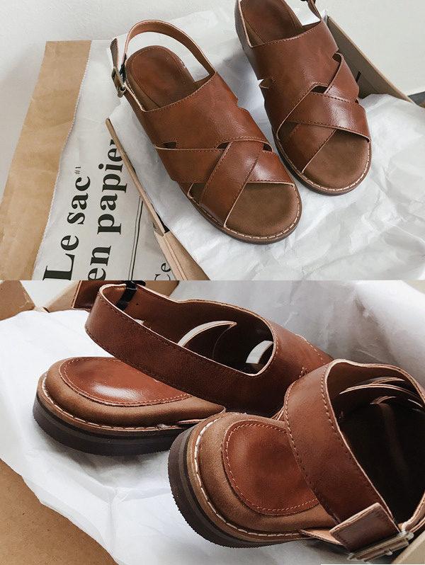 DEEP BROWN SANDLE - high quality !